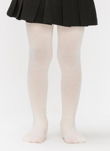Penti Kız Çocuk Ekstra Pamuklu Külotlu Çorap Beyaz